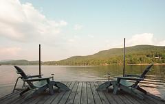 Sit Back and Enjoy the View (leesure) Tags: adirondacks longlake portra400 nikonfg nikkor20mmf28afd