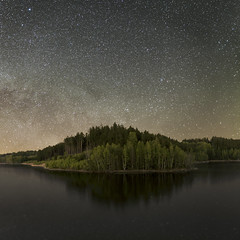 Starry Night (Petr Burkyt) Tags: water canon square stars landscape 1ds markii