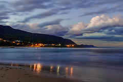 night under the mountain (scott_wilson) Tags: mountain beach home water night landscape lights town day austi escarpment coalcoast