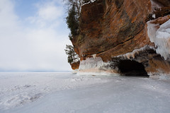 The Cave (Jason Crouse) Tags: 2014 apostleislandsnationallakeshore camera cave em1 ice landscape mzuiko1240f28 nature olympus snow subject water waterscape wisconsin zuiko bayfield unitedstates