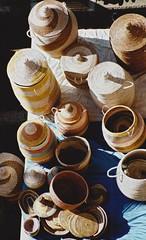 baskets (omnia_mutantur) Tags: baskets cestini cesti paniers cestas artigianato handcraft artesanat artesana artesanato vallecrosia italie italy liguria ligurie mercato market mercado march bancarella tenda stall stalle estable