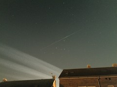 Iridium 12 flare (andystones64) Tags: astro imagecapture stars orbit image iphoneography nightcap pro app imagetrail iphoneastronomy clouds night trail lincolnshire long manmade uk flight iphone evening sunlit lighttrail nlincs iphone6 exposure iridium satellite flare imageof sky