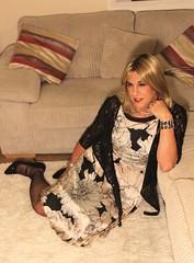 Dreaming in silk (bethany_labelle) Tags: silky satin dress tgirl transvestite