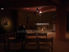 20160503_071342 (coldgazemedia) Tags: france taiz saneetloire burgundy taizcommunity communautdetaiz photobank stockphoto indoor chapel praying christianity man silence