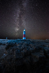 Lighthouse (Glen Parry Photography) Tags: glenparryphotography jurassiccoast landscape coast d7000 dorset lighthouse nikon ocean portlandbilllighthouse rocks sea seascape sigma sigma1020mm milky way