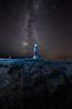 Lighthouse (Glen Parry Photography) Tags: glenparryphotography jurassiccoast landscape coast d7000 dorset lighthouse nikon ocean portlandbilllighthouse rocks sea seascape sigma sigma1020mm milky way
