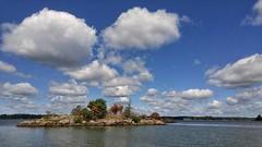 A Black Lake Island (Farmernudie) Tags: blacklake island cell color water clouds sky fishing sunny cloudy blue lake ny usa lg lgg4