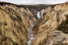 lower falls - grand canyon of the yellowstone (Christian Collins) Tags: yellowstone grandcanyonofyellowstone river canyon canon efs24mmf28 t2i caon artistspoint canyonvillage southrim cliffs waterfall lowerfalls