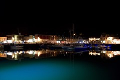 Harbour at night. (rustyruth1959) Tags: blue black sky windows serene masts buildings nightime reflections outdoor port water light boats harbour night padstowharbour padstow cornwall tamron16300mm nikond3200 nikon