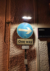 One Way (R~P~M) Tags: sign street oneway padstow cornwall kernow england uk unitedkingdom greatbritain night
