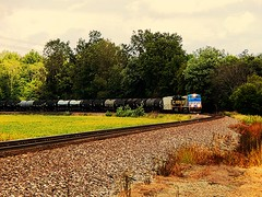 NS 4000 and Erie heritage unit at Roanoke Indiana (Matt Ditton) Tags: ns 4000 erie heritage unit roanoke indiana