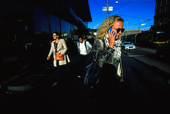 Street scenes (Helsinki Drifter) Tags: streetphotography helsinki film colour velvia100f slidefilm transparency scan candid snapshot people citycentre uwa wideangle finland europeans rushhour