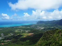 Top of Olomana's 1st Peak (jenesizzle) Tags: hiking landscape outdoors kailua oahu hawaii island paradise olomana threepeaks rabbitisland