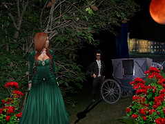 Highwayman Trilogy B (Chatwick Harpax) Tags: prickling shivers ballroom halloween mausoleum masquerade sexy posh highsociety debutante princess fashion redcarpet blacktie fancydress silkdress satingown velvet midnight jewels thief robbery second life secondlife sl robber scary spooky fullmoon sinister rogue poem poetry highwayman highwayrobbery standanddeliver knave damsel damselindistress distress ghostly ghastly gloomy misty trap silk mask masque bandit