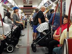 Subway Outing (jeffcbowen) Tags: subway strollers moms train toronto