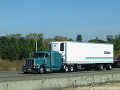 Oldland Distribution Peterbilt 389 with 48' spread axle (Michael Cereghino (Avsfan118)) Tags: oldland peterbilt 389 sleeper spread axle reefer trailer trucking semi