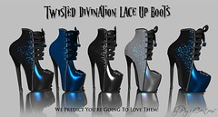 Twisted Divination Lace Up Boots by Page Creations   (Raven Page) Tags: slink high belleza maitreya materialsenabled thf16 twisted