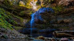 Tiffany Falls (EriccpSam) Tags: flare landscape toronto tiffany falls hdr hamilton canon 5dmarkiii water nature rock sun tree green wood canada