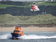RNLI Portrush Lifeboat 17-30, Irish Coast Guard Sikorsky S-92 EI-ICD (nathanlawrence785) Tags: rnli portrush lifeboat 1730 port 2016 airwaves 2015 iac irish coast guard sikorsky s92 helicopter eiicd display plane aircraft