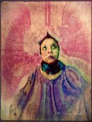 Self Portrait XIV (Salwa Afef) Tags: selfportrait portrait photographerportrait artistportrait texture painterly ipadart iphonephotography