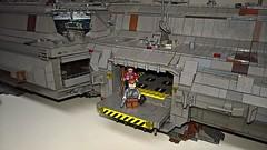 Early for Delivery (wilfordandmalia) Tags: space spaceship syfy ship gun knife moc merchant custom