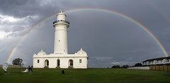 RAINBOW MOON (scatrd) Tags: lighthouse sonya6000 australia sigma19mmf28dnart sony 2016 weather nsw country rainbow sonyx easternsuburbs newsouthwales jasonbruth macquarielighthouse a6000 panorama sydney vaucluse au