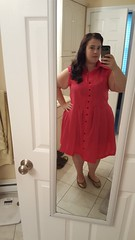 Pink Shirt Dress (IGetPointsForTrying) Tags: sewing dress shirtdress pink mccalls