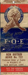 Fraternal Order of the Eagles, New Britain, CT, Matchbook (Guy Clinch) Tags: matchbook ephemera advertisement fraternal eagle