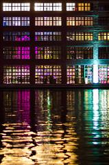aligned colours (Tafelzwerk) Tags: berlin colors night reflections river lights nikon colours nacht structure fluss spree meaning lichter farben reflexionen aligned industriegebiet dahme bedeutung nikkon85mmf18 d7000 ausgerichtet tafelzwerk tafelzwerkde