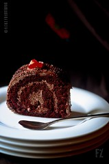 Chocolate Cake (FijazZ) Tags: food india cooking cookbook flickr desert dish indian kerala whiteplate doha qatar nikon50mm14d chocolatecreamcake fijazz nikond7000 mygearandme fijhas