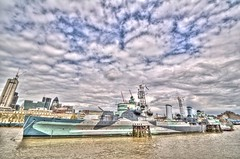 HMS Belfast (Ningaloo.) Tags: london history thames museum battle belfast hdr warship hms photomatix