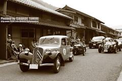 Old and Old (Teruhide Tomori) Tags: old car japan drive town classiccar vintagecar rally 日本 fukui kumagawa ラリー worldcars lafestaprimavera citroentranctionavant7cv