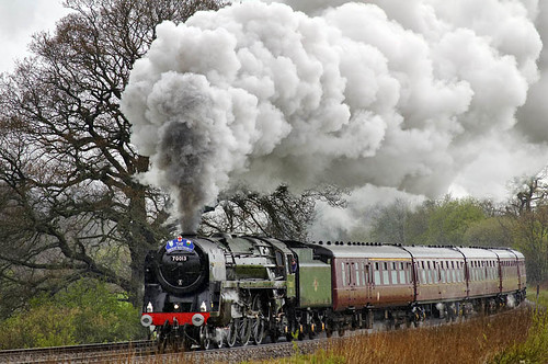 The train in the rain (geoffspages) Tags: rain geotagged shropshire railway steam olivercromwell 70013 allstretton geo:lat=5256571061467717 geo:lon=27844856348267513