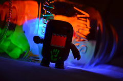 Message from Hand of the King (WindUpDucks) Tags: light black dark neon glow hand domo jar handprint qee gid