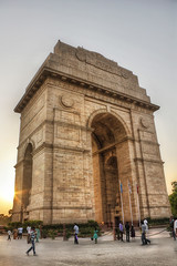 India Gate (Parveen Singh) Tags: life friends sunset sky people sun india love canon death big gate heart delhi feel happiness center soldiers tall walls 1855mm visitors sorrow hdr honour 550d countery