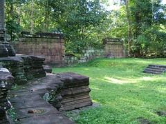 Terrace of the elephants: a temple pond (oldandsolo) Tags: cambodia buddhism worldheritagesite siemreap buddhisttemple angkorthom rockpile angkorarchaeologicalpark khmerkingdom theruinsofangkor buddhistfaith crumblingruins angkortempleruins