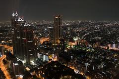A view from Tokyo Metropolitan Government Building Observation #3 (Takashi(aes256)) Tags: city japan night tokyo shinjuku 東京 夜景 新宿 街 tokyometropolitangovernment 都庁 夜 shinjukuparktower nikond4 新宿パークタワー nikonafsnikkor28mmf18g