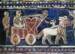 The Standard of Ur, detail with chariot (war)