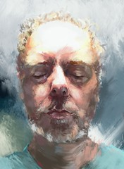 Rabe (2012) - iPad portrait of the artist (RozHall) Tags: light portrait art mobile flesh digital artwork artist chichester procreate ipad iamda