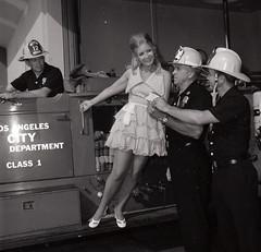 Charity fund raiser check presentation Fire Station 12 Circa 1970