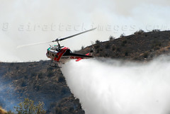 H301 (airattackimages) Tags: county wild mountain forest fire riverside ryan air north attack brush helicopter highland cal hemet bomber copter tanker rru 301 rvc slurry cdf wildland retardant helitack phoschek