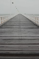 At the pier on a windy drizzly day (Hopeisland) Tags: