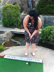 At the Pirate's Cove (All About Eve) Tags: ocean voyage summer vacation holiday playing game beach golf vacances miniature maine minigolf plage oldorchard oldorchardbeach miniputt ocan piratescove
