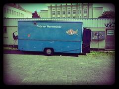 Rostock (Das halbrunde Zimmer) Tags: urban fish warnemünde fisch ostsee lomofake rostock bude mecklenburgvorpommern stadtraum urbanarea fischbude städtebauliche flickrandroidapp:filter=miami