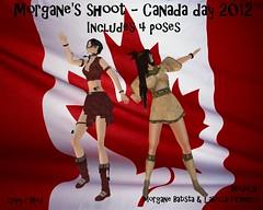 Morgane's shoot - Canada day 2012 (Morgane Batista) Tags: life canada dance day native flag avatar inspired sl american second unisex poses morgane 2012 batista labella firanelli