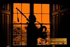 A lone piper's lament. (Edward Dullard Photography. Kilkenny, Ireland.) Tags: kilkenny ireland silhouette piper bagpipes kilkennycastle colorphotoaward edwarddullardphotography