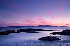 My Favourite Place (Christopher Swan) Tags: pink blue sunset summer seascape scotland arisaig christopherswan wwwchristopherswanphotographycom