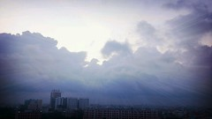 Good Morning (Nazmul Hossain [ON/OFF]) Tags: morning sky beauty clouds sunrise buildings lights good sony pro hd rays dhaka beautifulsky hossain nazmul xperia flickrandroidapp:filter=rome nazmulbd