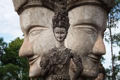 Me, Myself and I (with the mysterious Other) (moonbird) Tags: thailand buddhism hinduism mekong isaan nongkhai watkhaek luangpu salakeoku