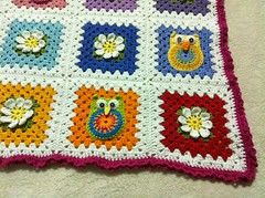 IMG_0204 (Melissa and Craig) Tags: flower quilt crochet yarn afghan owl grannysquare crochetflower crochetowl